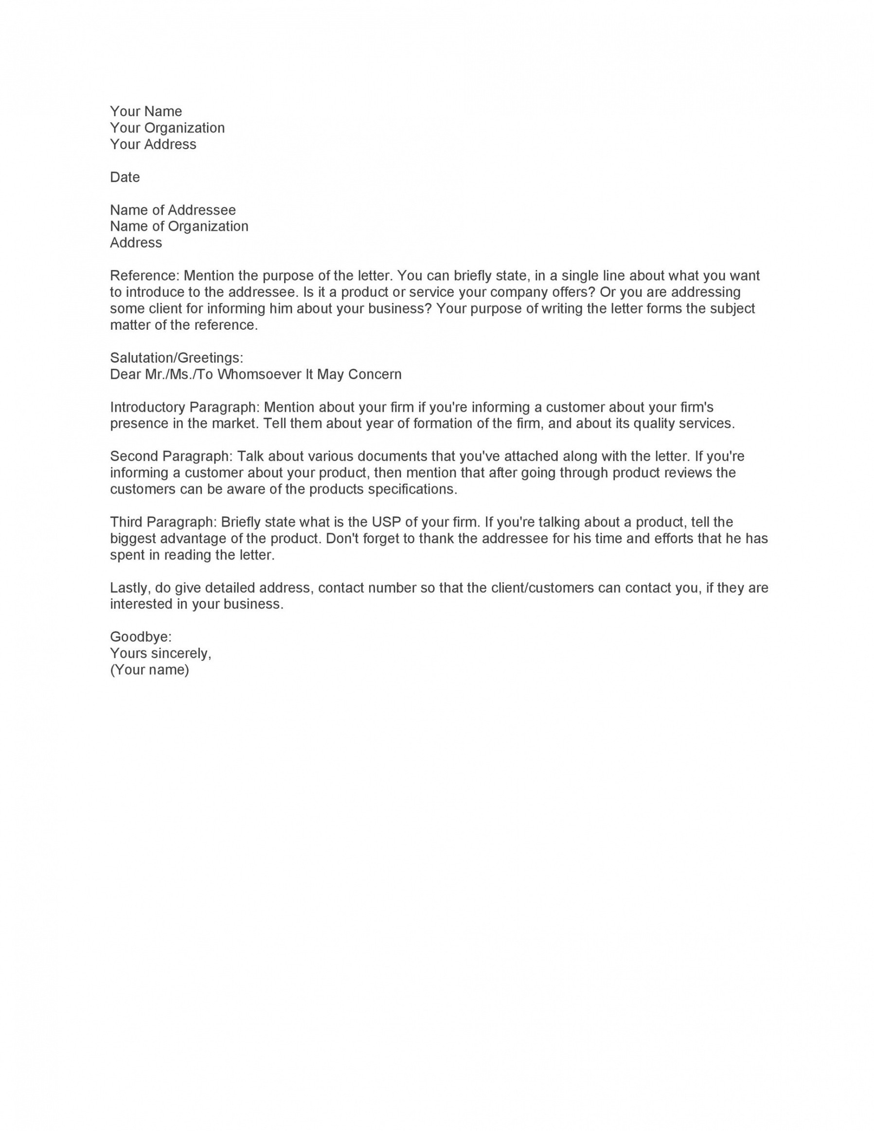 company introduction email template excel example