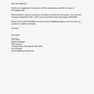 costum interview invitation email template word