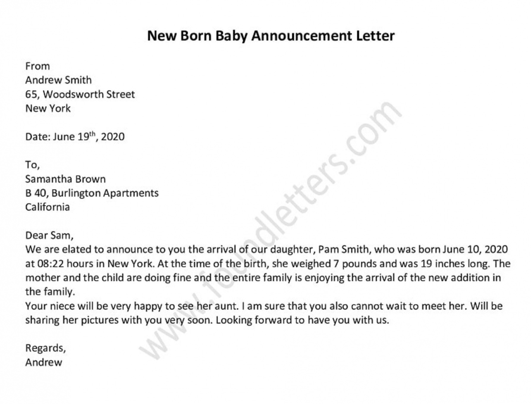 free birth announcement email template word