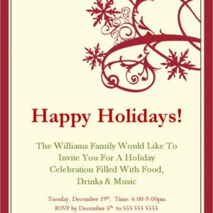 free holiday party email template word