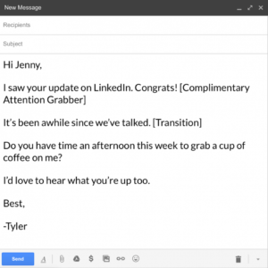 free open house email template word sample