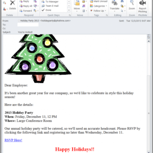 holiday party email template excel sample