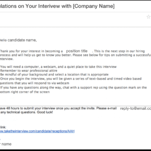 interview invitation email template  example