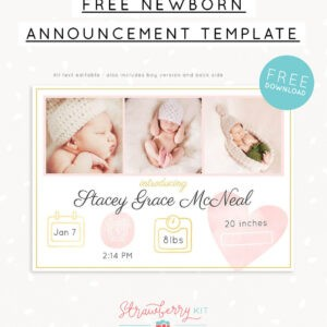 printable birth announcement email template doc sample