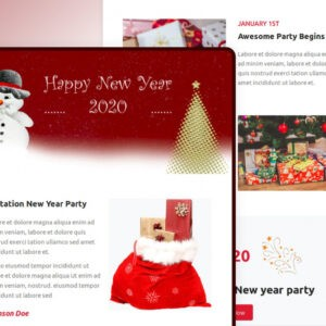 printable holiday party email template word example