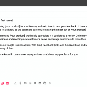 printable technical support email template doc sample
