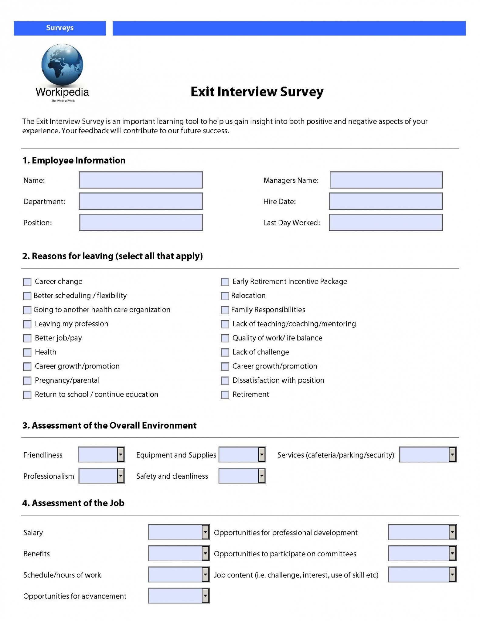 editable exit interview email template excel