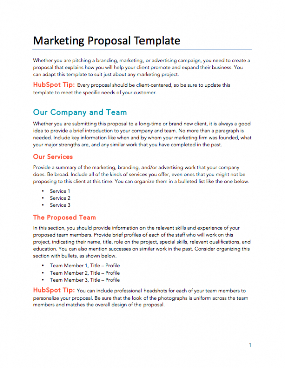 best sales proposal email template doc sample