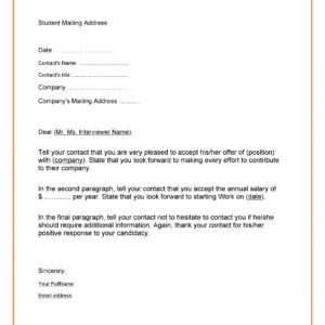 costum interview acceptance email template  example