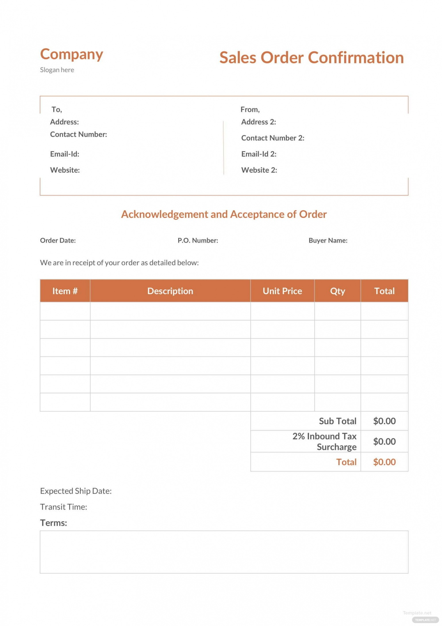 costum purchase order email template word sample