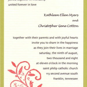 costum wedding announcement email template doc example