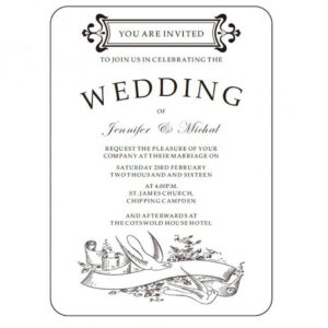 costum wedding announcement email template doc sample