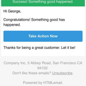 free call to action email template doc example