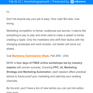 product announcement email template  example
