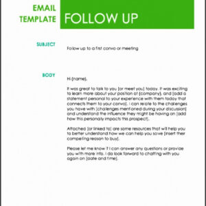 professional sales prospecting email template word