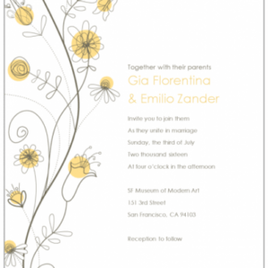 wedding announcement email template