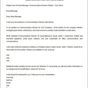 costum email template for resume submission word