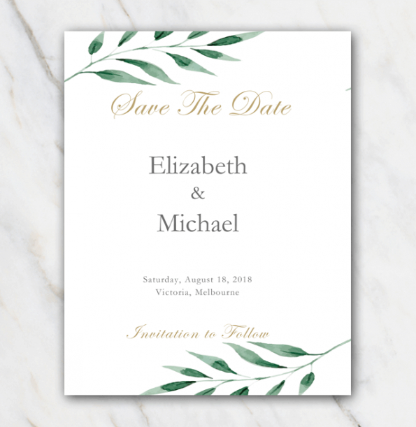 costum wedding save the date email template excel sample