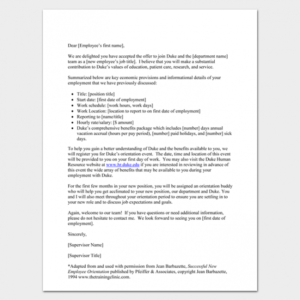 costum welcome new employee email template doc example