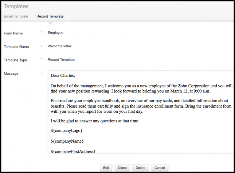 costum welcome new employee email template pdf example