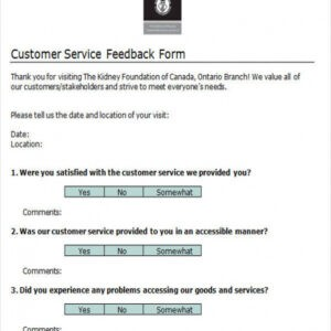 free customer service feedback email template