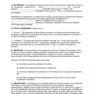 free non disclosure agreement email template doc