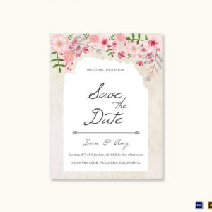 free wedding save the date email template excel