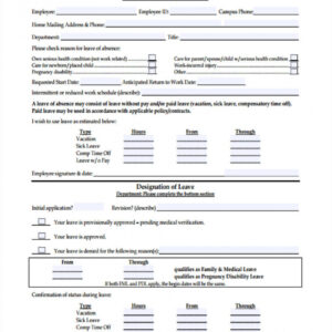 annual leave request email template  sample
