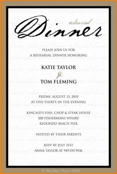 best dinner party invitation email template word