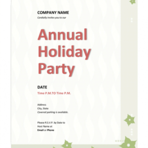 best holiday party email invitation template doc example