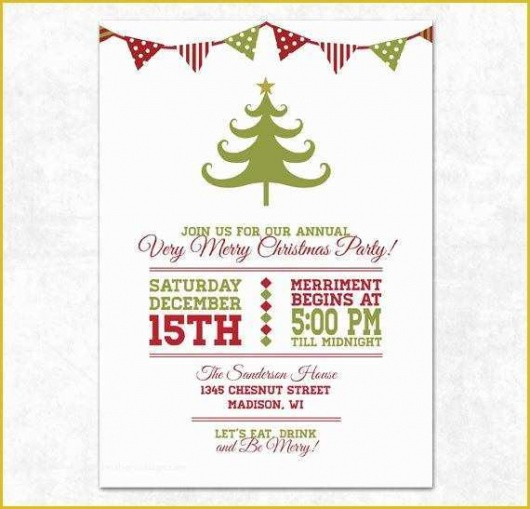 best holiday party email invitation template excel