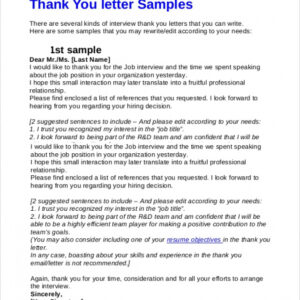 best thank you email after interview template pdf example