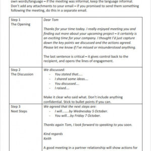 costum business follow up email template pdf