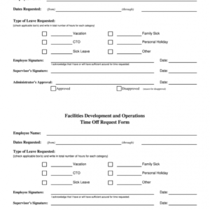 costum time off request email template  example