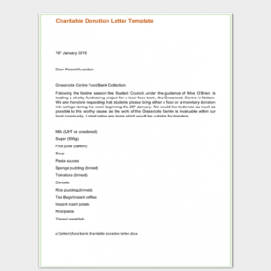 donation request email template excel