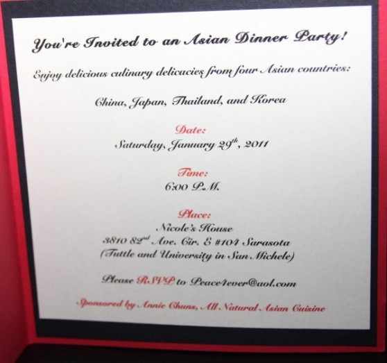 editable dinner party invitation email template excel