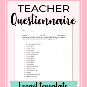 editable teacher email to parents template doc example