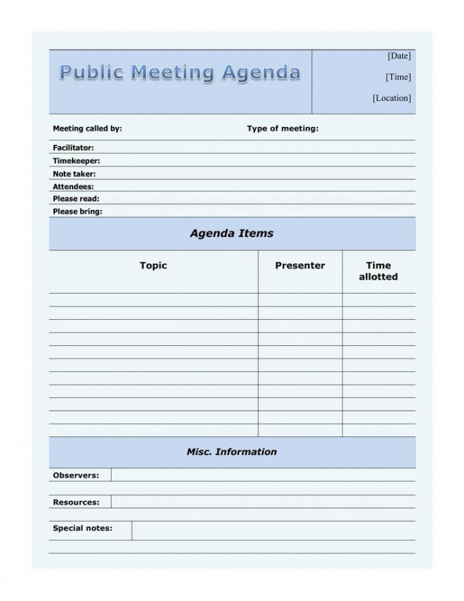 free call for agenda items email template pdf sample