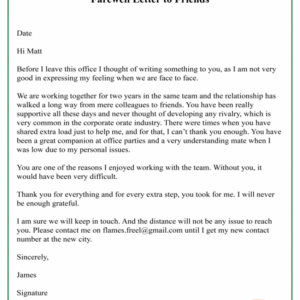 free last day at work email template doc sample