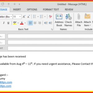 free out of office email reply template pdf example