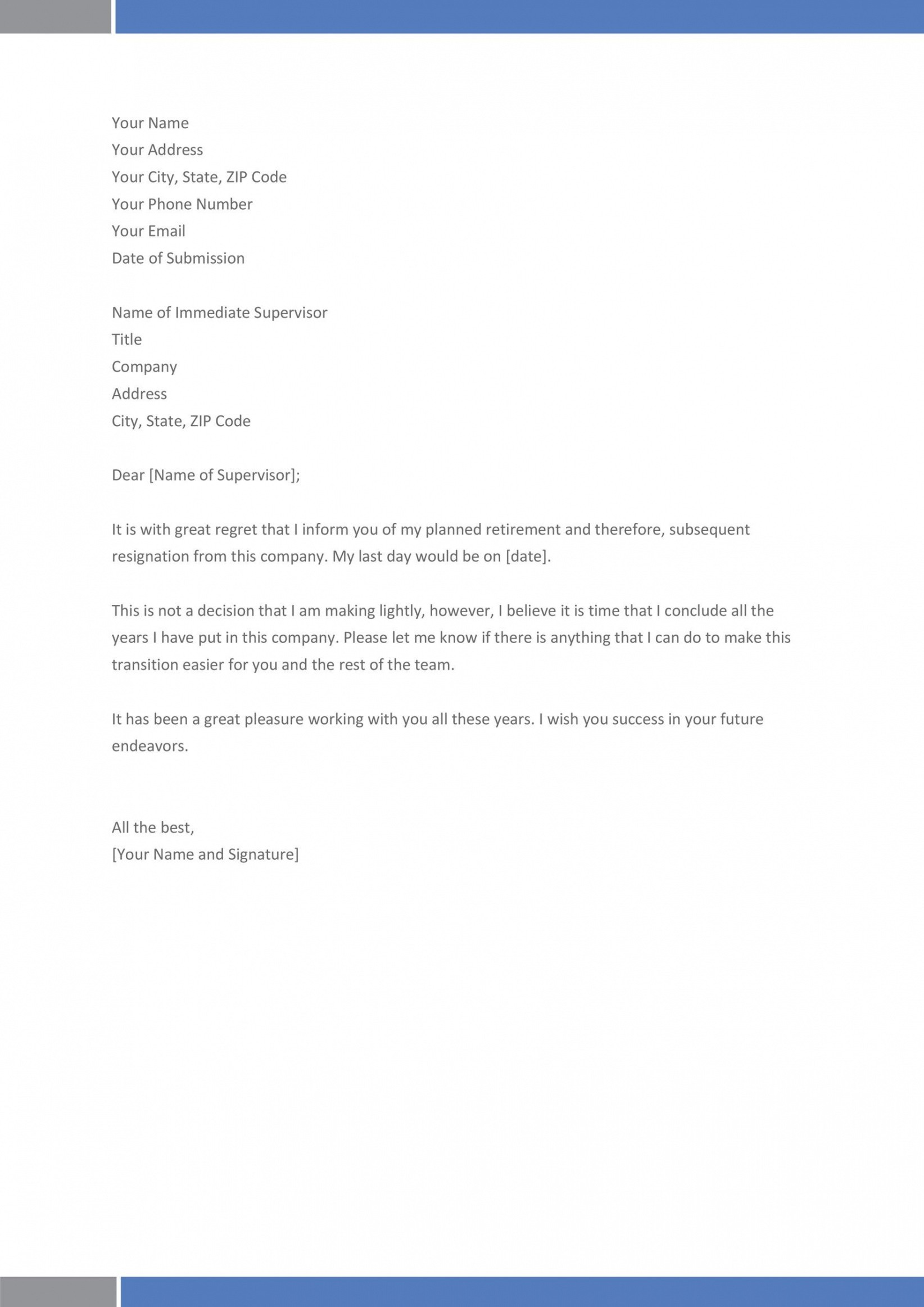last day at work email template doc sample