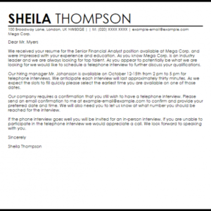 phone interview invitation email template excel example