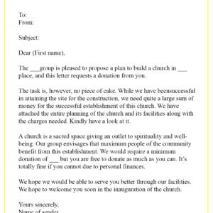 printable donation request email template doc