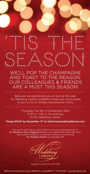 professional holiday party email invitation template excel